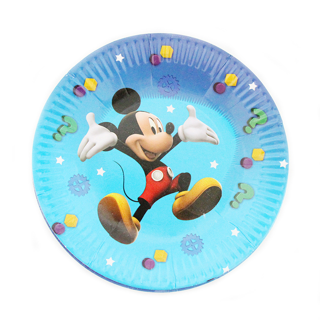 10pcs/lot Mickey Cartoon Theme Kids Favor Boys Birthday Party Paper Plate 7inch Printing Round  sc 1 st  AliExpress.com & 10pcs/lot Mickey Cartoon Theme Kids Favor Boys Birthday Party Paper ...