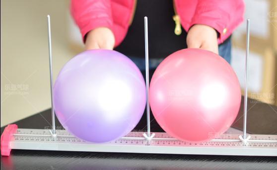Régua de medição Escala de medição do tamanho do Balão bola duplo haste usado para acessórios balão