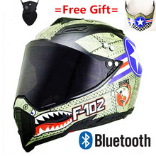 Motorcycle BluetoothFree helmet double dual lens full face modular racing the top quality