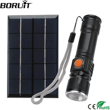 BORUiT XML T6 LED Flashlight with Solar Panel 4-Mode Zoom Torch USB Rechargeable Built-in18650 Battery Lantern sitemap 165 xml