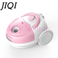 JIQI Ultra Quiet Mini Vacuum Cleaner Sweeper Household Powerful Carpet Bed Mites Catcher Dust Collector Aspirator