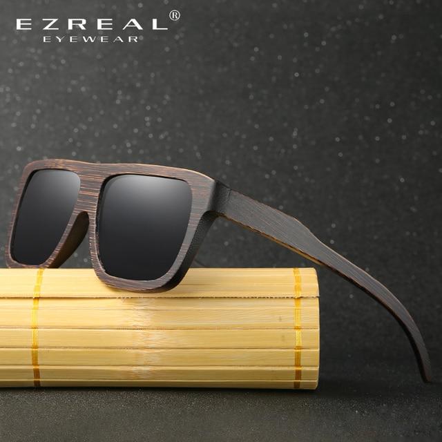 EZREAL Polarized Wood Sunglasses Retro Bamboo Frame Driving Sun Glasses Handmade Wooden Eyewear Glasses For Men Women EZ029 4