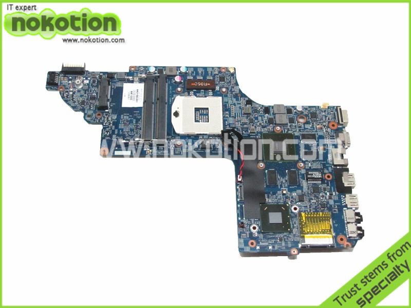 NOKOTION Laptop motherboard For Hp Pavilion dv6-7000 Intel NVDIA GT630M Graphics DDR3 682168-001 48.4ST10.021 nokotion laptop motherboard for hp pavilion dv3 intel pm45 ddr2 with nvdia graphics kjw10 la 4735p 576795 001