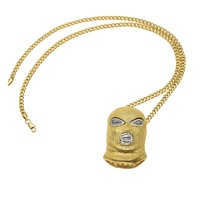 New Creative Goon CS Ski Mask Pendant Men S Chain Hip Hop Necklace Jewelry Men Cool