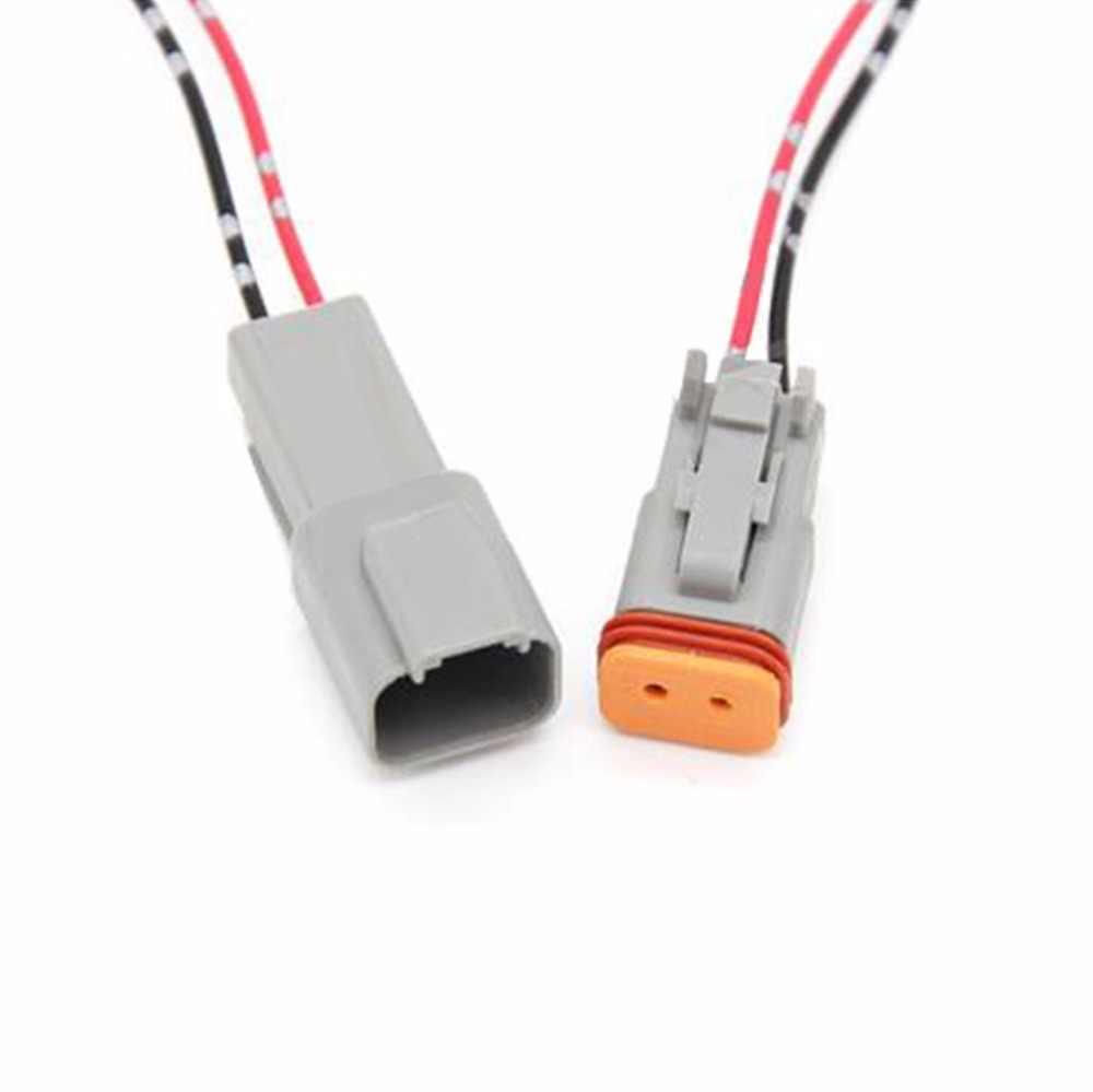 1 Set Deutsch DT06 DT04 Mobil Tahan Air Konektor Pria dan Wanita Butt Plug dengan Kawat 2 3 4 6 8 12 PIN 22-16AWG
