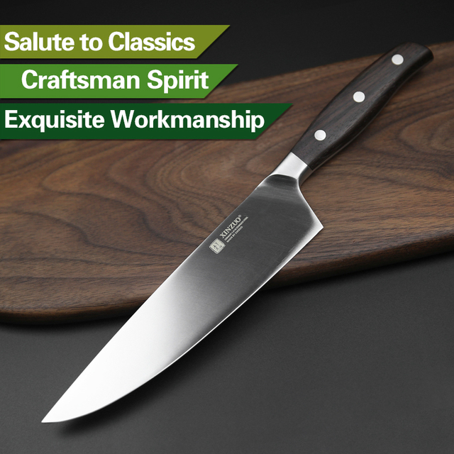 XINZUO High Quality Paring Utility Cleaver Chef Santoku Knife Stainless Steel Cook Tools Kitchen Knives Sets Ebony Wood Handle