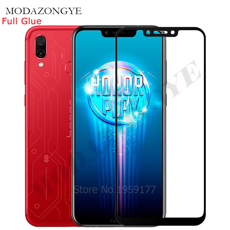 For Huawei Honor Play Tempered Glass Honor Play Screen Protector Honor Play For Huawei COR-L29 2018 HonorPlay 6.3 Inch Full Glue