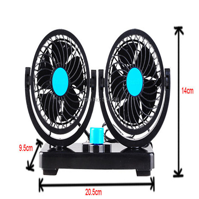 2015  New 24V Cars  2 Speed Strong Wind Mini Fan Black Auto Cool Fan Fan Adjustable Silent Cooler Speed  Truck Cooling Air Fan