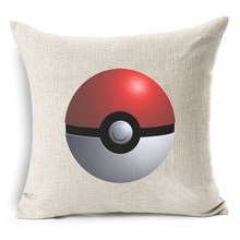 Pokemon GO Pattern Cotton Linen Cushion Pillow Cover