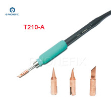 PHONEFIX JBC T210 납땜 인두 팁 T SK T I 휴대 전화 PCB 납땜 수리에 대한 교체 가능한 소형 용접 철 팁 T IS