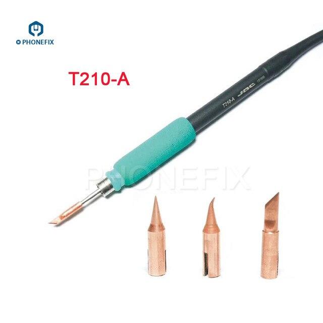 PHONEFIX JBC T210 سبيكة لحام تلميح T SK T I T IS استبدال صغيرة لحام الحديد نصائح ل الهاتف المحمول PCB لحام إصلاح