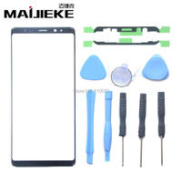 MAIJIEKE OEM Black Screen Outer Glass Lens Replacement For Samsung Note 8 Front Screen Glass Lens