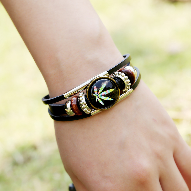Cannabis Leaf Shaped Bracelet Bangles & Bracelets