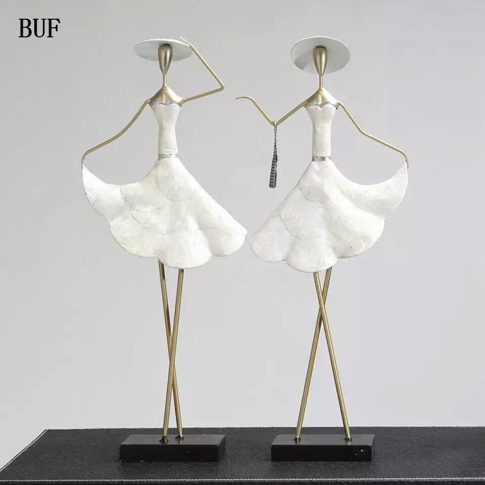 BUF Europe Style femmes Figurines Statue mode beauté Statue sculpture ornement décoration de la maison accessoires Figurine Statue-in Statues et sculptures from Maison & Animalerie    1