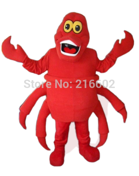 Sebastian The Little Mermaid Mascot Costume Adult Size Direct Wholesale Sebastian Mascotte Costumes Fancy Dress