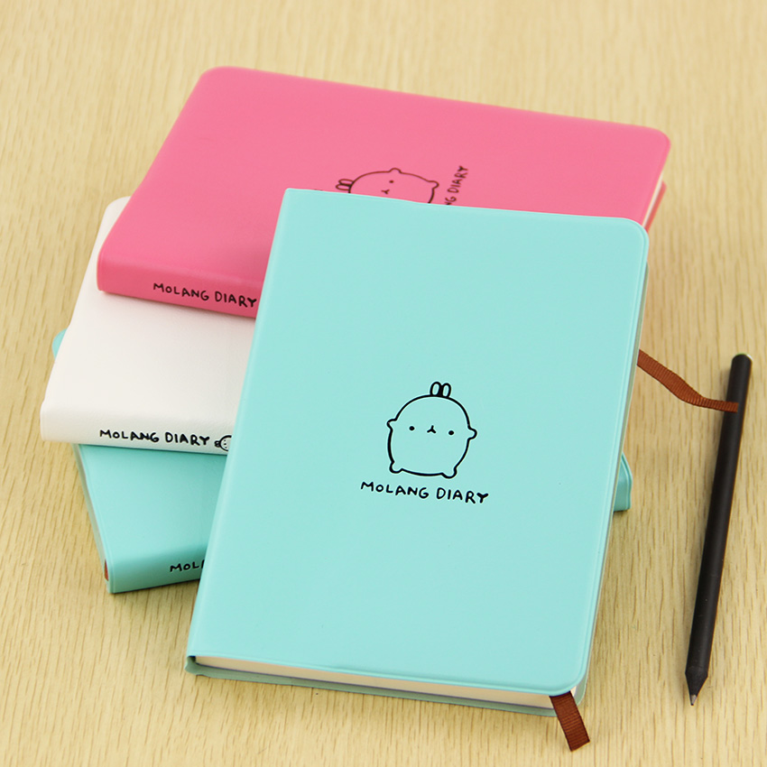 1 PC Cute Notebook Molang Rabbit Notepad Diary Day Planner Memo Journal Record Stationery Office Creative Gifts 1pc lot cute rabbit design memo pad office accessories memos sticky notes school stationery post it supplies tt 2766