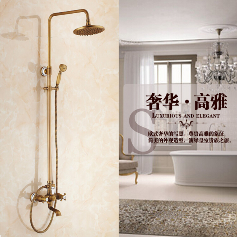 ᗑwholesale And Retail Round Brass Rain Shower Head Antique Brass