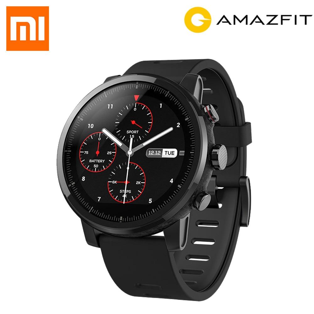 Original English Version Xiaomi HUAMI AMAZFIT Stratos GPS Smart Sports Watch 2S 2 Version 5ATM Waterproof