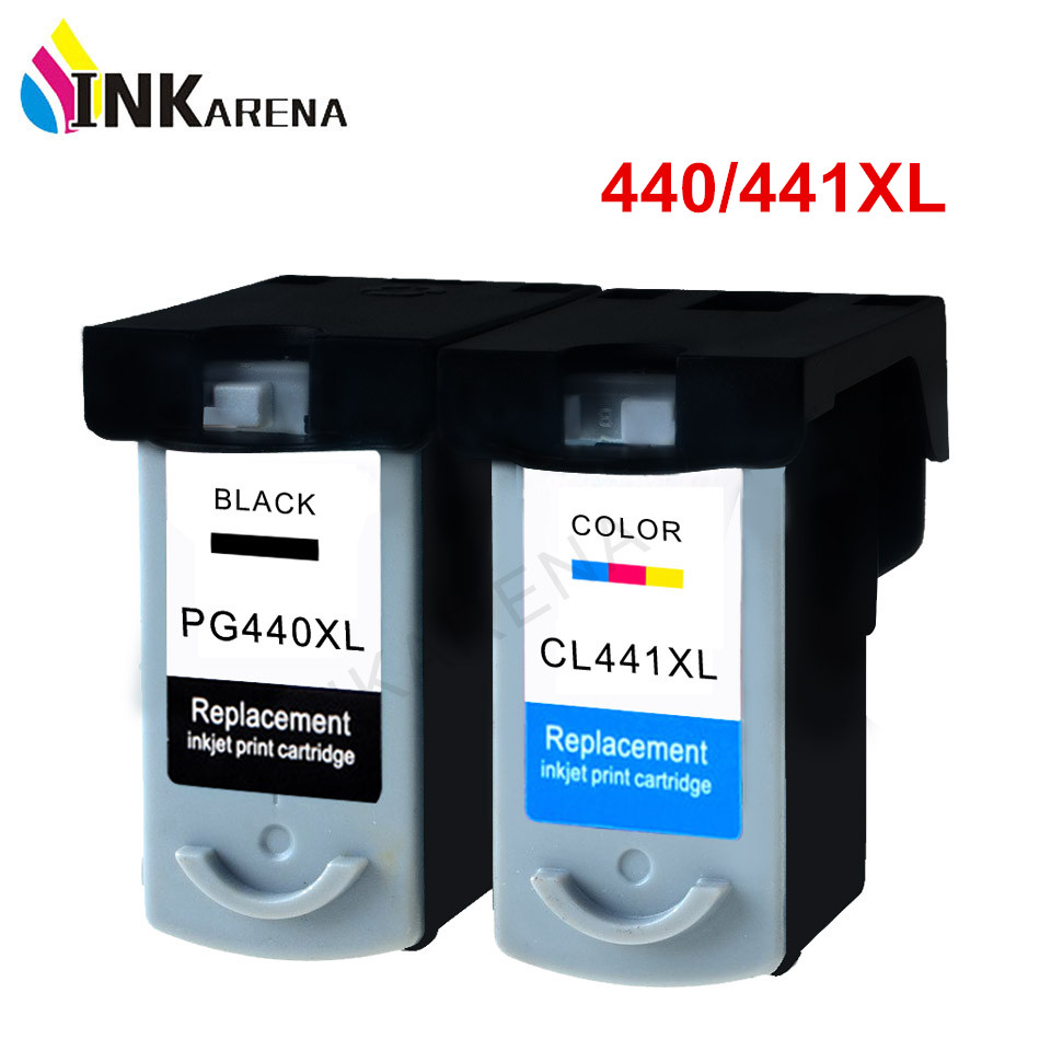 INKARENA PG-<font><b>440</b></font> CL-441 <font><b>XL</b></font> Ink Cartridge for <font><b>Canon</b></font> PG440 PG <font><b>440</b></font> CL441 PIXMA MX374 MX394 MX434 MX454 MX474 3540 Printer Ink kit image