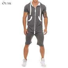 Oeak Uomini di Estate Tute e Tute da Palestra Rappezzatura degli uomini di  Abbigliamento Sportivo Casual bb8ec371365d