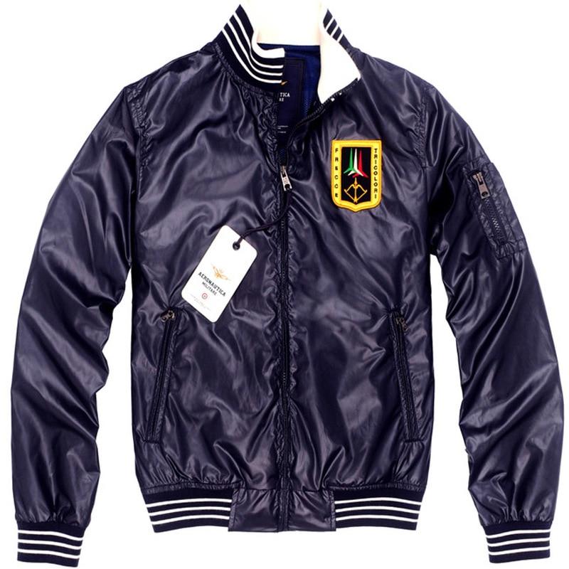 100% QualitäT 2019 Neue Mens Air Force Pilot Männer Der Jacken Aeronautica Militare Hohe Qualität Stickerei Herbst Beiläufige Kurze Jacke Mantel