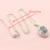 Multicoloridos Do Arco de Pedra Branca de Prata Banhado A Conjuntos de Jóias Para As Mulheres Hoop Brincos/Pulseira/Colar/Pingente/Anel Caixa de Presente livre