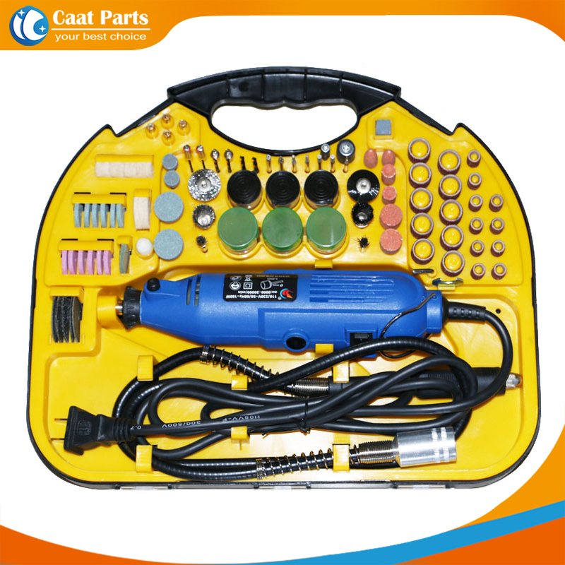 High Quality! New Arrival 211pcs 6-speed Adjustable Speed Electric Rotary Drill Grinder Machine  Polish Sanding Tool Set