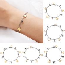 Rinhoo Fashion Charming Silver Stainless Steel Bracelets Luxury Butterfly Animal Hollow Ball Bracelet & Bangle Jewelry Gifts