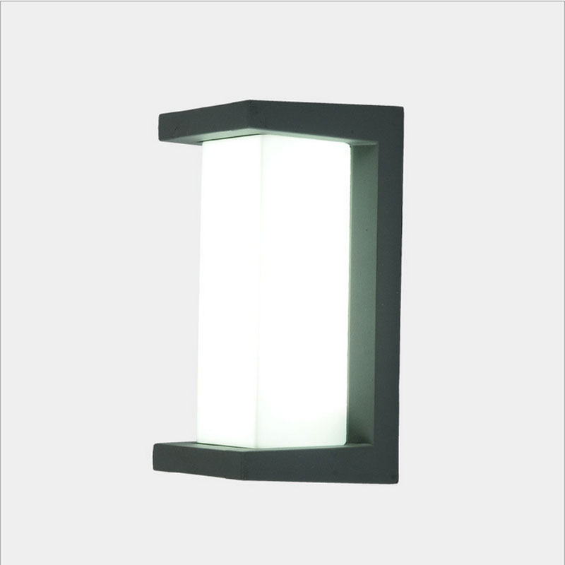simple waterproof led garden light corridor aisle fence wall sconce villa community led decorative lighting outdoor wall lamp