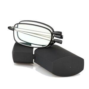 Image 4 - מעבר Photochromic מתקפל אופטי קוצר ראייה רוחק קריאת משקפיים + Rx Rx מותאם אישית כוח מיני כיס קורא עם מקרה עבור