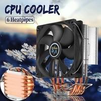 12cm 6 Heat Pipes CPU Cooler Copper Heatpipes 3Pin Cooling Fan Radiator Heatsink Cooler for LGA 1150/1151/1155/1156/1366/775 AMD