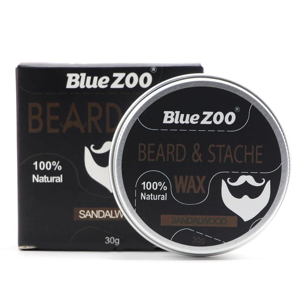 New 1 Box 30g Natural Organic Facial Beard Wax Beard Care Cream Tasteless Sandalwood Orange Eucalyptus 4 Taste Choice TSLM2 1