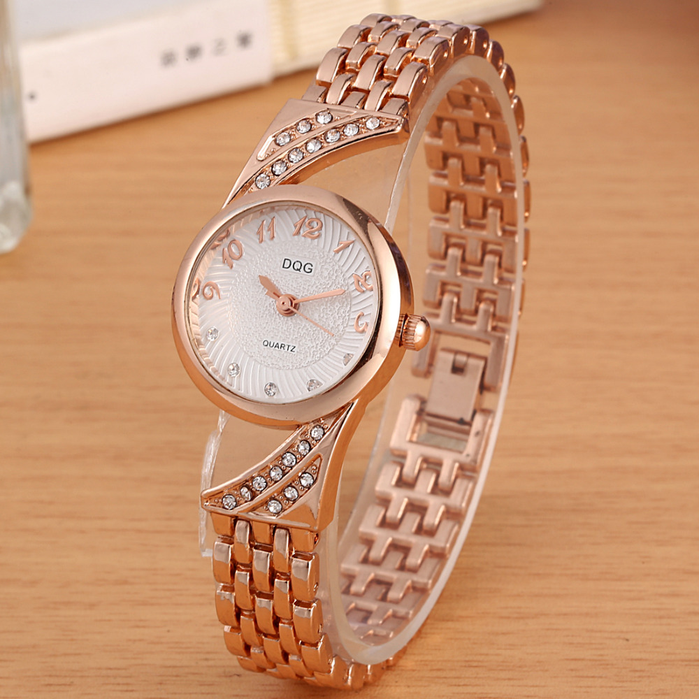 New Luxury Brand DQG Crystal Rosy Gold Casual Quartz Watch Women Stainless Steel Dress Watches Relogio Feminino Clock Hot Sale new luxury brand dqg crystal rosy gold casual quartz watch women stainless steel dress watches relogio feminino clock hot sale