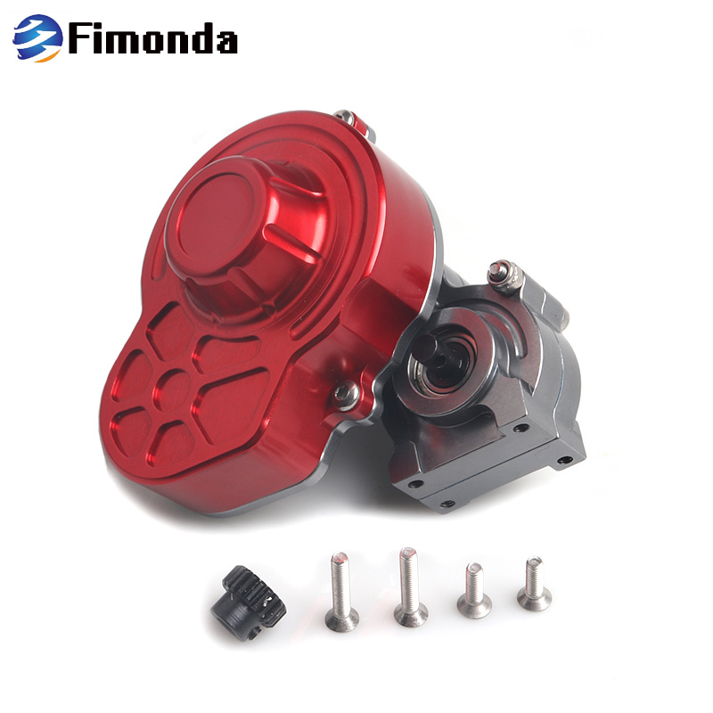 Fimonda Complete Metal SCX10 Gearbox Sealed Transmission Box With Motor Gear For 1/10 RC Crawler Car Axial SCX10 Upgrade PartsFimonda Complete Metal SCX10 Gearbox Sealed Transmission Box With Motor Gear For 1/10 RC Crawler Car Axial SCX10 Upgrade Parts