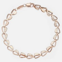 fc0fefb981b4 Trendsmax 585 pulsera de oro rosa para mujer corazón enlace cadena enlace  pulsera moda regalos para mujeres Gifrls 6mm 18
