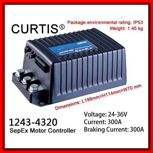 Curtis 1243 4320 sepex motor controller 24 36v 300amp for Curtis dc motor controller 1243