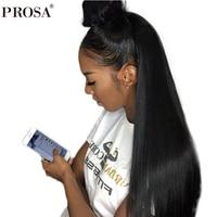 Шелк базы Full Lace человеческие волосы парики натуральных волос прямо бразильский фронтальной парик предварительно сорвал с волосы младенца