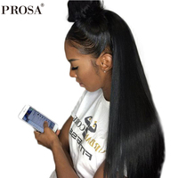 Silk Base Full Lace Human Hair Wigs Natural Hair Straight Brazilian Frontal Wig Pre Plucked With Baby Hair Prosa Remy