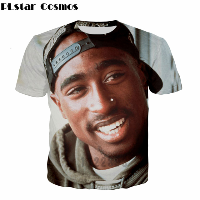 6ca869c0 PLstar Cosmos Latest design 2pac T Shirt Men Women High Quality t shirt  Gangsta Rap Tupac T Shirt Hip Hop Brand Clothing