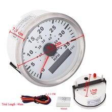 1 шт., водонепроницаемый GPS измеритель скорости, 35 миль/ч, с красной подсветкой