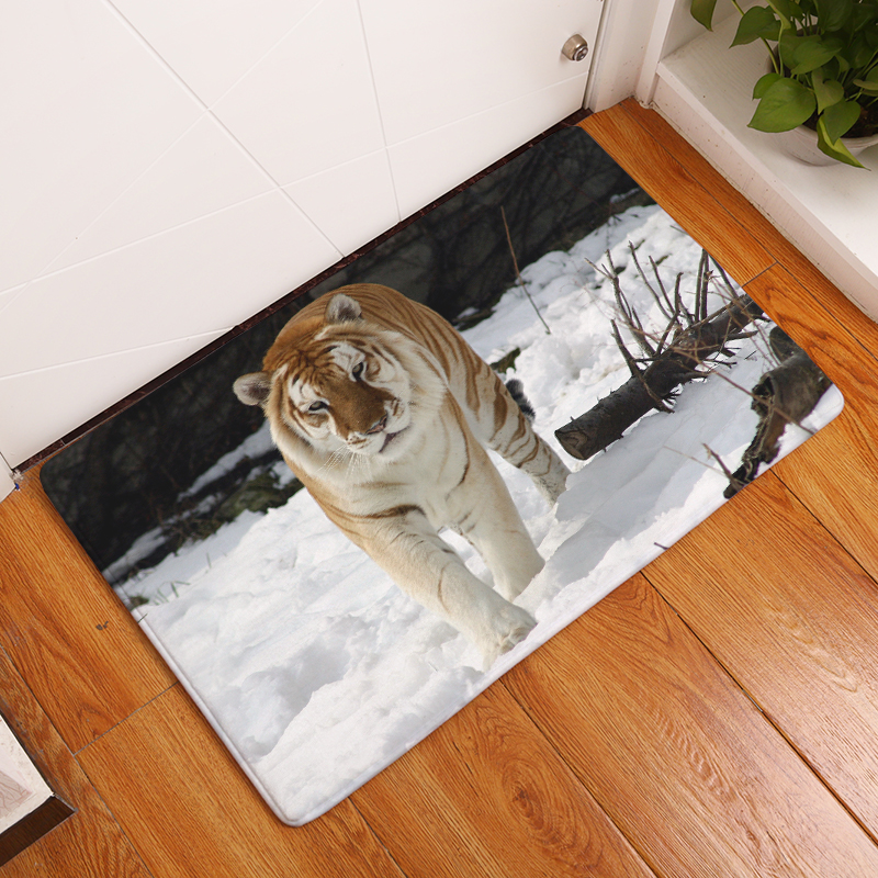Cartoon Flannel Carpet Tiger Printing Mat For Living Room 40x60cm 50X80cm  Door mat Rectangle Tapete - us244 51c6ed7c36ff