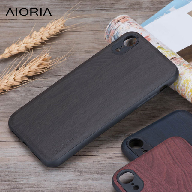 Wooden pattern case for iPhone XR silicone soft TPU wood PU leather covers coque carcasa for iPhone XS MAX X Not real wood