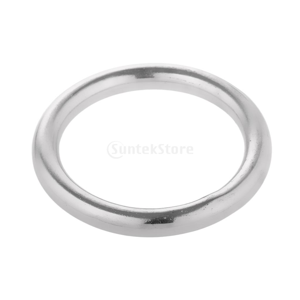 40-100mm Dia. Smooth Welded Ring Precision Polished 304 Stainless Steel O Round Rings For Kayak Canoes Marine Shade Sail Boat