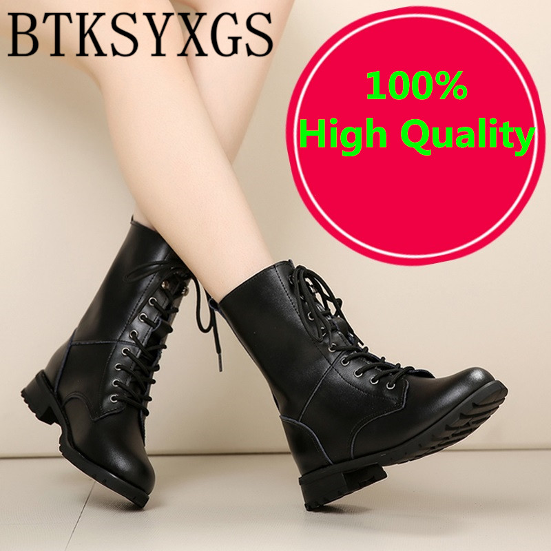 BTKSYXGS 2017 Women's snow boots 100% genuine leather fashion Women Flats Ladies Martin boots Woman winter shoes Female/34-41 2015 winter new style women boots ladies lovely fashion snow shoes female handmade rhinestone genuine leather snow boots