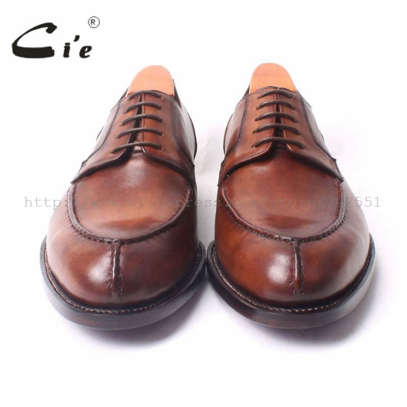 Respirável Handmade Homens Sapato Passado Marrom Welted Do Brown Mais Goodyear Não Amplo Dos Redondo Sola Lacing Couro Derby Cie Dedo De D101 Vestido Pé XUqwqPv