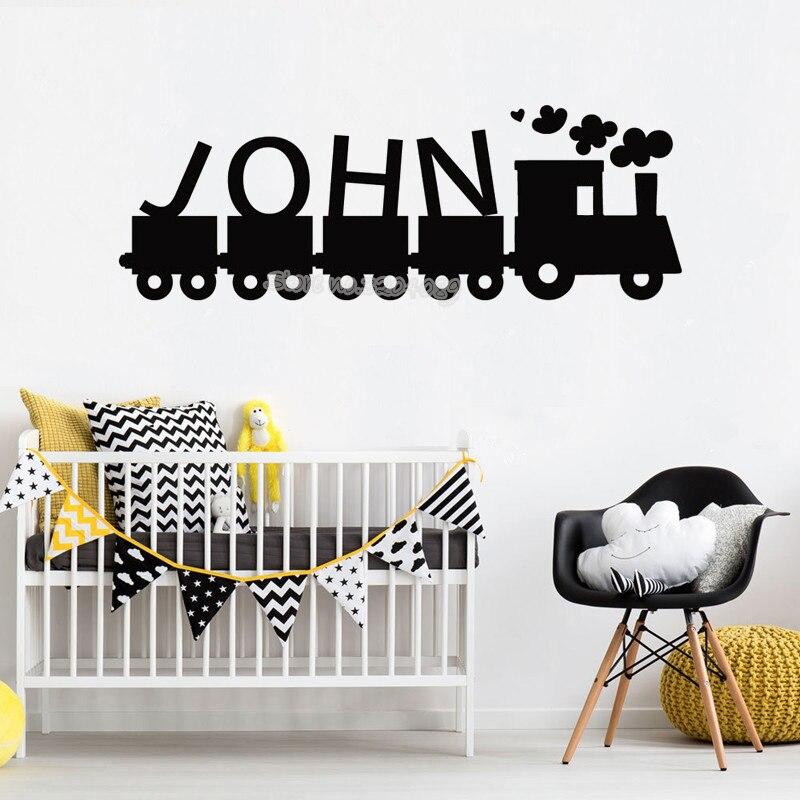 Train Baby Shower Decorations Baby Boy Room Train Playroom Personalized Nursery Decor Nursery Room Mural Train Name Decal Train Vinyl