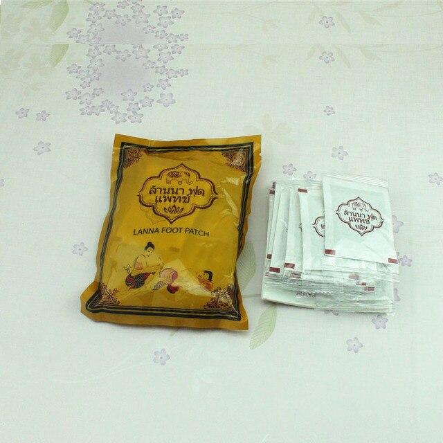 Sumifun 10Pcs/Bag Thailand LANNA Detox Foot Patch Pads Detoxify Toxins Adhesive Keeping Fit Organic Herbal Patches C122