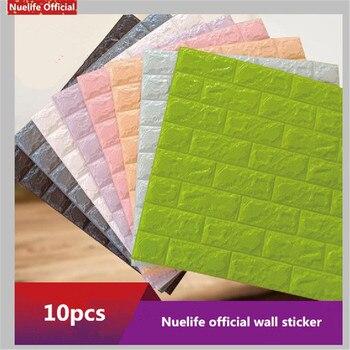 3d brick pattern wall stickers kids room living room bedroom anti-collision self-adhesive wall sticker waterproof foam wallpaper
