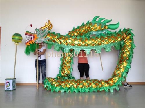 10M 6 vuxen CHINESE DRAGON DANCE guldpläterad Folkfestival - Nationella kläder - Foto 4