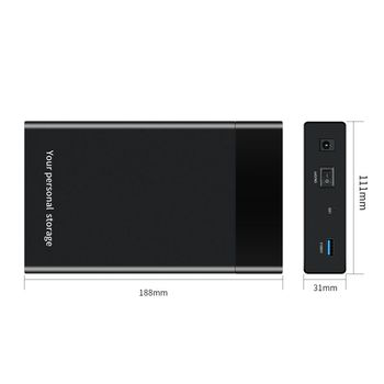 US/UK/EU 2.5 / 3.5 Inch USB 3.0 SATA External Hard Drive Enclosure Device For Mac OS Windows Linux